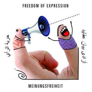 Spielkarte Meinungsfreiheit aus dem Spiel mit den Grundrechten