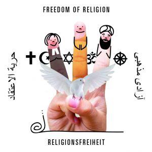 Spielkarte Religionsfreiheit aus dem Spiel mit den Grundrechten