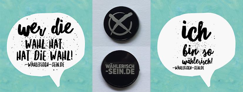 wählerisch-sein.de - Guerilla marketing zur Bundestagswahl